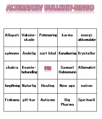 alternativ bullshit bingo