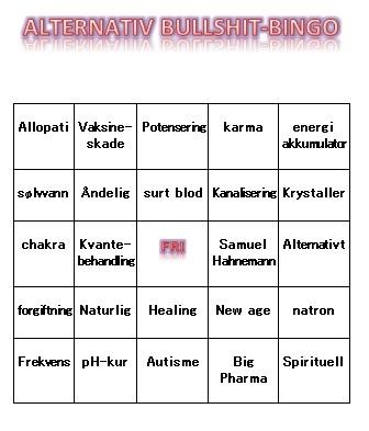 alternativ bullshit bingo
