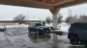 Scraping ice of the BMW X5