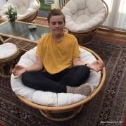 The Kid meditating