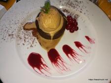 choc fondant with salted caramel icecream