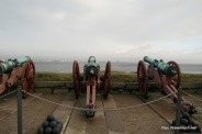 Canons aimed at the sound and Sweden